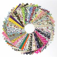 50Pcs 10*10CM =Flowers Cotton Patchwork Craft Fabric Bundle Sewing DIY Bags Hats