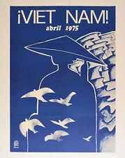 1975 Cuban ORIGINAL Political Poster.Cold War art.VIETNAM.Rostgaard.Authentic.