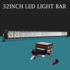 Quad-Row 34inch 788W LED Work Light Bar Combo Offroad Driving SUV Boat ATV 30/34