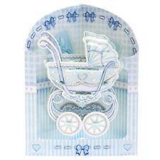 SANTORO 3D SWING CARD - BABY BOY PRAM SC157 **NEW**