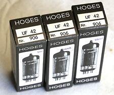 3 tubos Hoges UF 42 elektroröhren rimlock Tube Valve examinado nos bl520