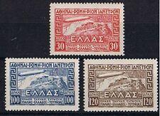 Griechenland ** MiNr 352 - 354 Graf Zeppelin Italienfahrt geprüft