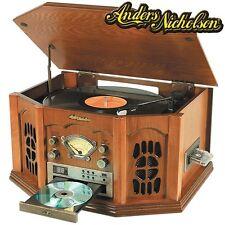 New listing Anders Nicholson Nostalgic Am/Fm Home Stereo System w/ Oak Finish & Lcd Display