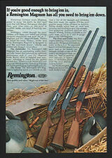 1977 REMINGTON MAGNUM 1100 Auto - 870 Pump - 3200 Over/Under Shotguns VINTAGE AD