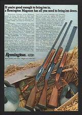 1977 REMINGTON MAGNUM 1100 Auto - 870 Pump - 3200 Over/Under Shotguns VINTAGE AD