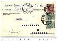 cartolina Società Industria Prodotti Chimica 1927 -1206