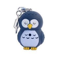kikkerland OWL LED Keyring KRL26T w/ blue glowing eyes + Hoot Hoot Sound key