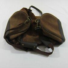 Marlboro 2003 Guts & Grit Gear Brown Suede Leather Duffle / Travel Weekender Bag