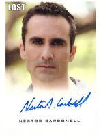 "LOST Seasons 1 thru 5 Premium Autograph Trading Card Nestor Carbonell ""Richard"""