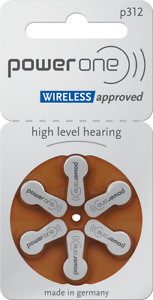 120 Hearing Aid Batteries, Hörgerätebatterien VARTA Power One Typ P312 MF NEU
