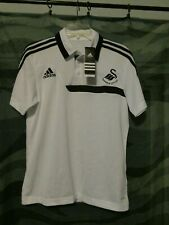 White Swansea City AFC Adiddas Polo Mens S New-Never Worn
