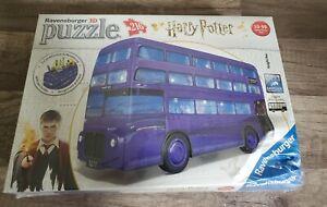 NEW (Dinged Box) Ravensburger 11158 Harry Potter Knight Bus 216Pc 3D Puzzle