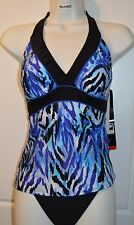 NWT Women's MIRACLESUIT Halter Tankini SWIMSUIT by Kirkland Bathing Suit Size 14