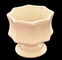 "Vtg Rare Hull USA Ivory Model F3 Octagonal Glazed Pottery Planter 3.75""H 3.75""W"