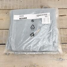 "IKEA Ottoman Footstool Cover FOTO Cotton Canvas NEW 22.5""Wx13.75""H Blue Gray"