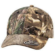 Outdoor Cap Structured Mossy Oak or Team Realtree 360 Insignia Camo Hunting Hat