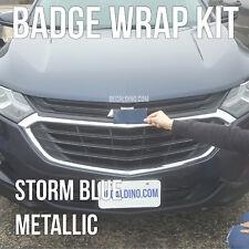 Storm Blue Car Emblem Wrap Kit - Chevy Equinox Traverse Custom BowTie Badge 3M
