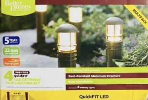 4-Piece QuickFIT LED Light Pathway And New Lights Piece Archdale Bollard Homes