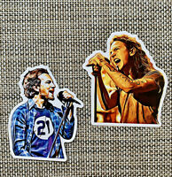 Eddie Vedder Pearl Jam Drawing Premium Sticker Pack Decal Quality Gloss Grunge
