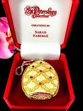 Nib Sarah Faberge St. Petersburg Collection Gold Silk Precious Stone Ornament