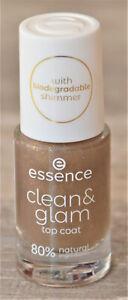essence clean & glam Top Coat biodegradable shimmer 8 ml -  NEU