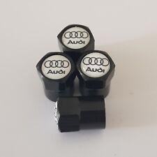 Válvula De Coche Audi Blanco Negro Superior Rueda de Aleación Polvo Tapas Todos Los Modelos