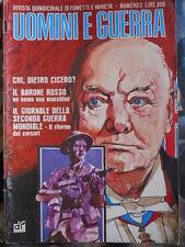 UOMINI e GUERRA n°2 1977 fumetti e varietà su Guerra ed. Dardo  [G322]