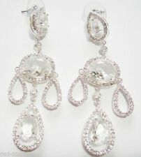 Cubic Zirconia Silver Plated Drop/Dangle Unbranded Fashion Earrings