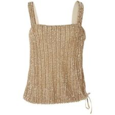 Ralph Lauren Gold Beaded Camisole NWT Size 12