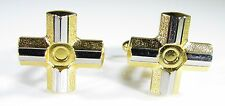Gold Tone Cufflinks with Sandvik Coromant Cutting Tool by Ohquist
