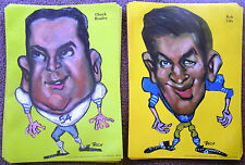1969 Dallas Cowboys BOB LILLY & CHUCK HOWLEY Vintage NFL TASCO Original Posters