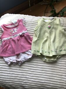 Carters Girls Sundresses Lot Of Two Size 12 Months