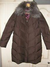 Ladies PER UNA Feather & Down Brown Long Coat S