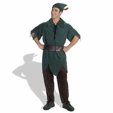 Adult Disney Peter Pan Hat Pants Tunic 4 PC Costume Dress Dg5964