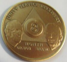 Alcoholics Anonymous Aa Founders 8 Month Bronze Medallion Coin Chip Token Sober