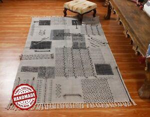 3x5 4x6 Indien Handmade Cotton Dhurrie Kitchen Area Rug Dining room Throw Carpet