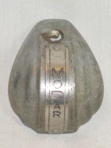 vintage antique Mopar metal id car auto part ? cover small curved face-plate ?