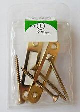 2 Möbel Schließbleche vermessingt flach, Schließblech Nr.927660/3003 w1