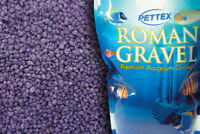 Aquatic Purple Colored 4.4lb Aquarium, Vivarium Fish Tank Gravel Substrate