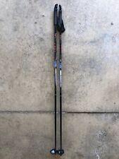 LEKI 4.0 Line Classic 140 cm 48 Inches Black/Blue Ski Poles GREAT CONDITION