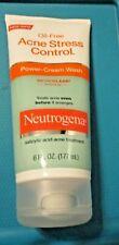 Neutrogena Oil-Free Acne Stress Control Power-Cream Wash Acne Treatment 6 Oz