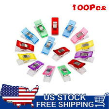 100PCS Assorted Plastic Clips Clamps for Sewing knitting Craft Binding US STOCK
