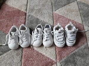 Baby trainer  bundle pumps converse fila x3  Size 4  infant