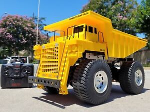 Vintage Tamiya R/C 1/20 Mammoth Dump Truck 4WD 2.4GHz Radio w/ light Kit Futaba