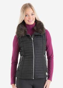 ANKY Ladies Quilted Gilet Body Warmer Waistcoat - Black Bird XL - Equestrian New