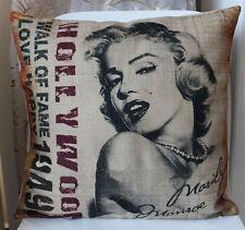 "Home Decor Sexy Marilyn Monroe Linen Pillow Case Sofa Cushion Cover Sham 18""x18"""