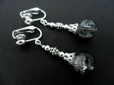 Handmade Glass Tibetan Silver Costume Earrings