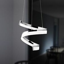 WOFI lámpara colgante LED FARE 1 Luz Cromado Vidrio Acrílico Espiral 27 vatios