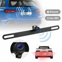 Waterproof 170° HD Car RearView Reverse Backup Camera License Plate Night Vision