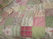 Pottery Barn Patchwork Queen Duvet Cover and 2 standard shams